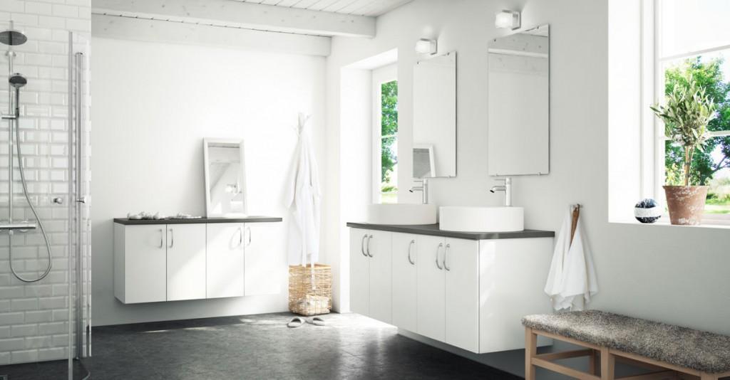 Fräscha Hämta inspiration till ditt lantliga badrum | Billiga badrumsmöbler IB-31
